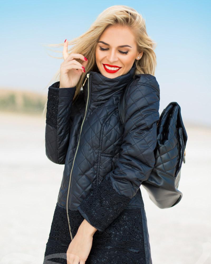 Куртка с кружевом