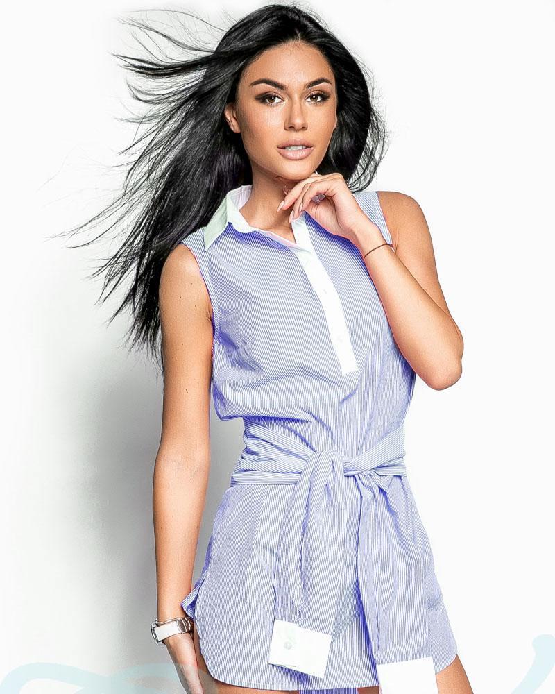 Платье с рукавами на поясе фото
