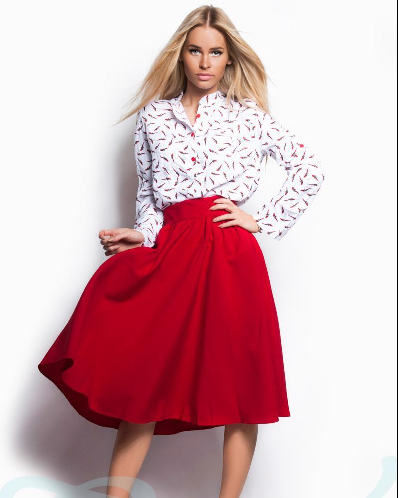 Базовая юбка-клеш фото