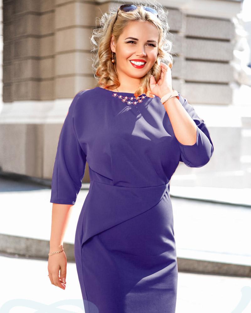 Купить Platya_platya-bolshih-razmerov, облегающее деловое платье, Gepur