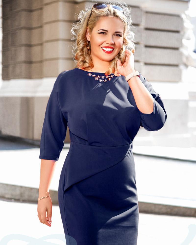 Купить Platya_platya-bolshih-razmerov, Универсальное облегающее платье, Gepur