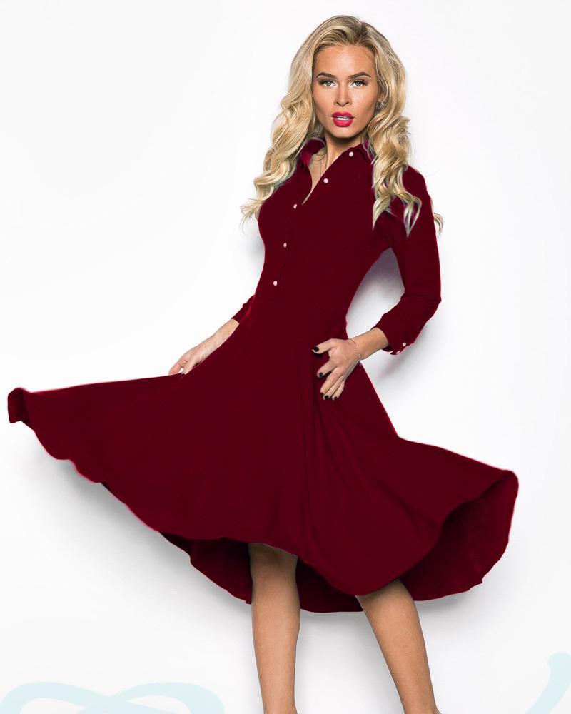 Женственное платье-клеш