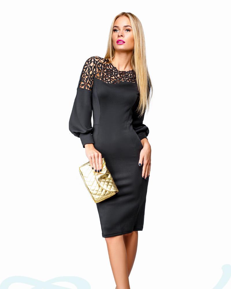 Платье с перфорацией фото
