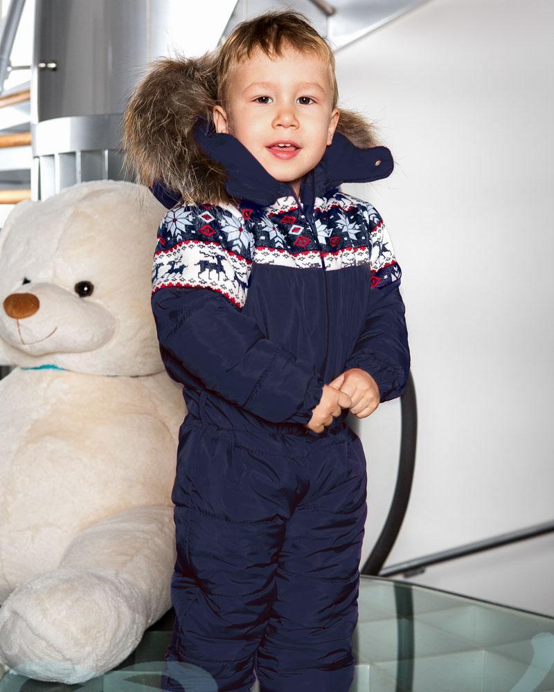 Теплый детский комбинезон фото
