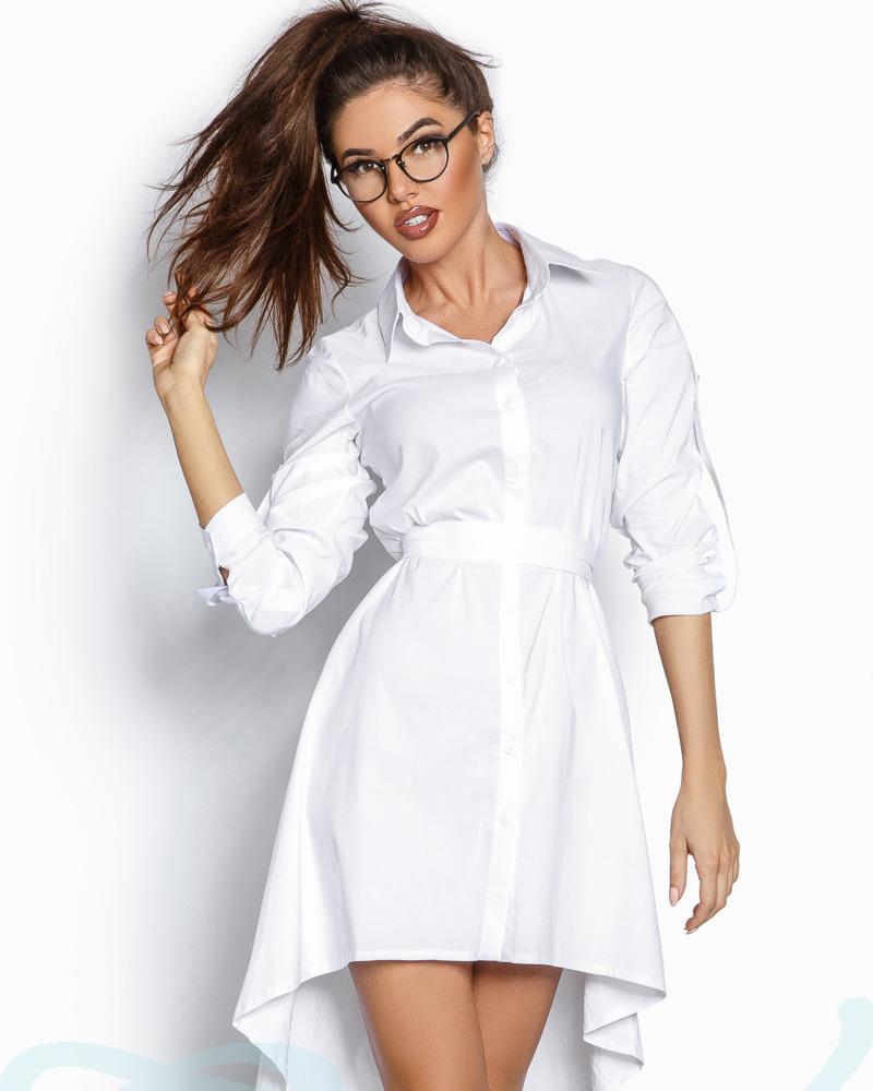 Лаконичное асимметричное платье