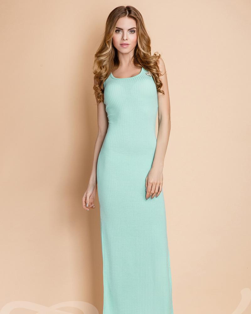 Платье-майка в рубчик