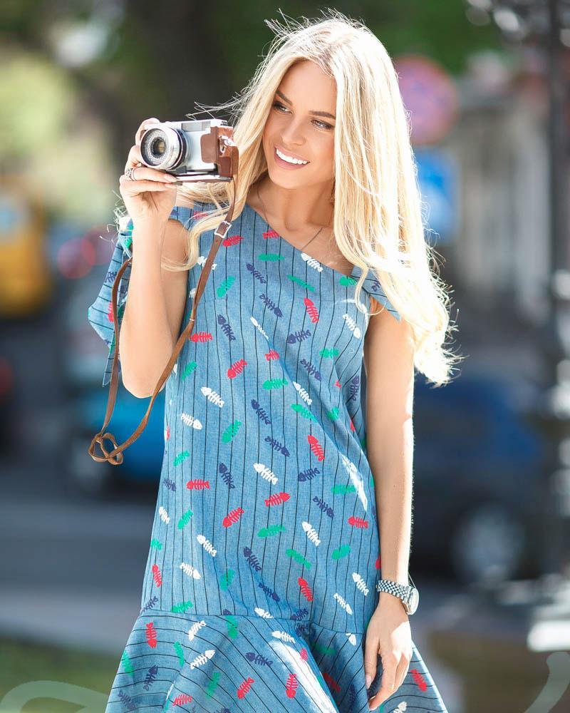Короткий джинсове сукню от Gepur