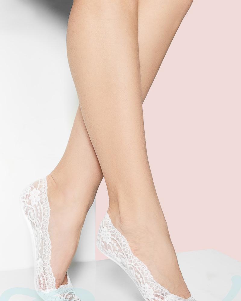 Кружевные носки-следки фото