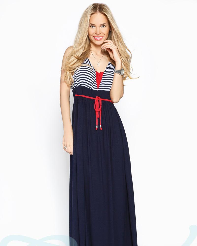 Платье макси полоска фото