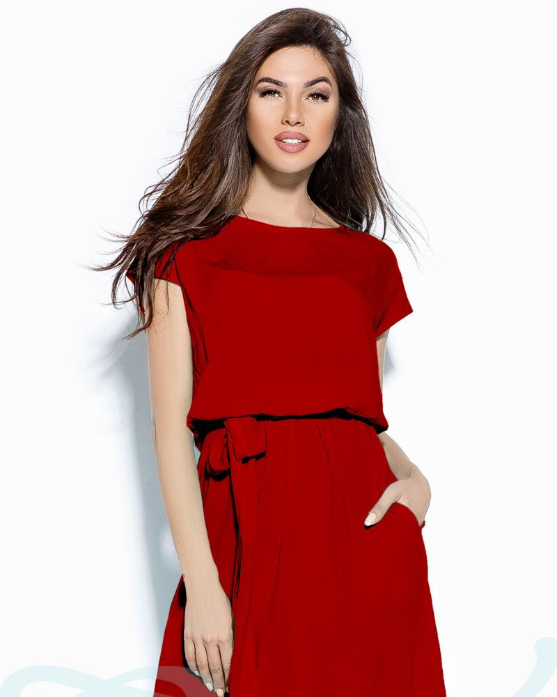 Однотонное платье-туника