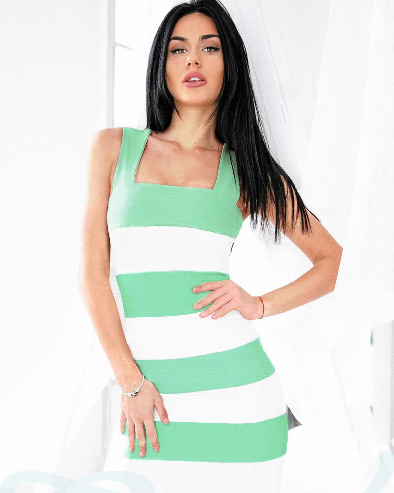 Купить Platya_platya-midi, Двухцветное летнее платье, Gepur