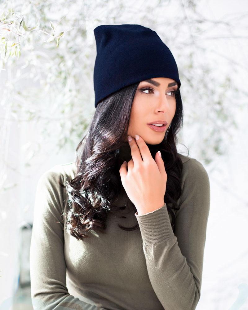Удобная вязаная шапка от Gepur