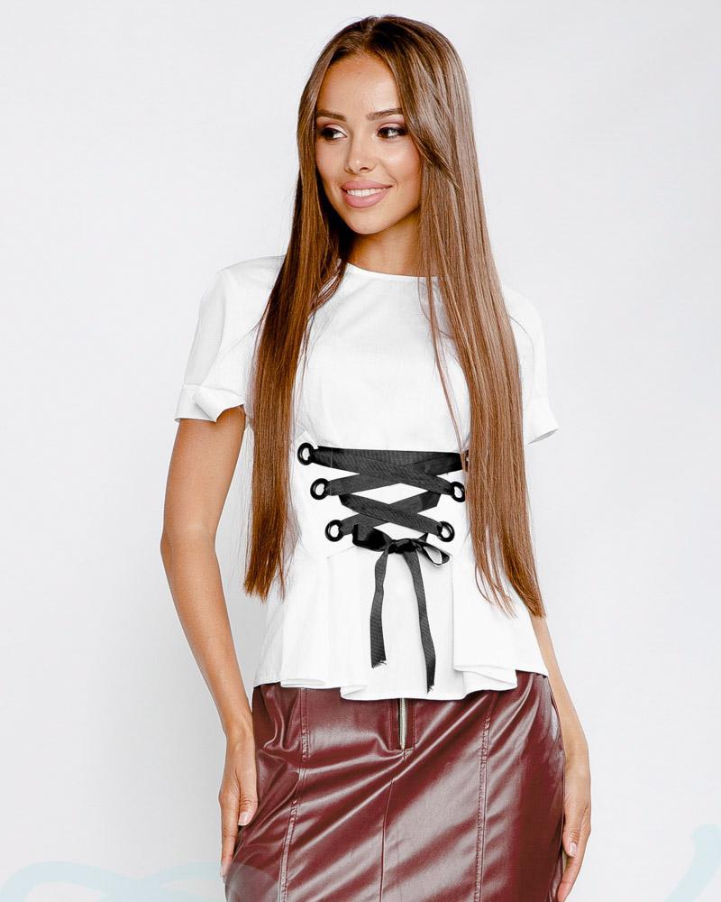 Блуза со шнуровкой фото