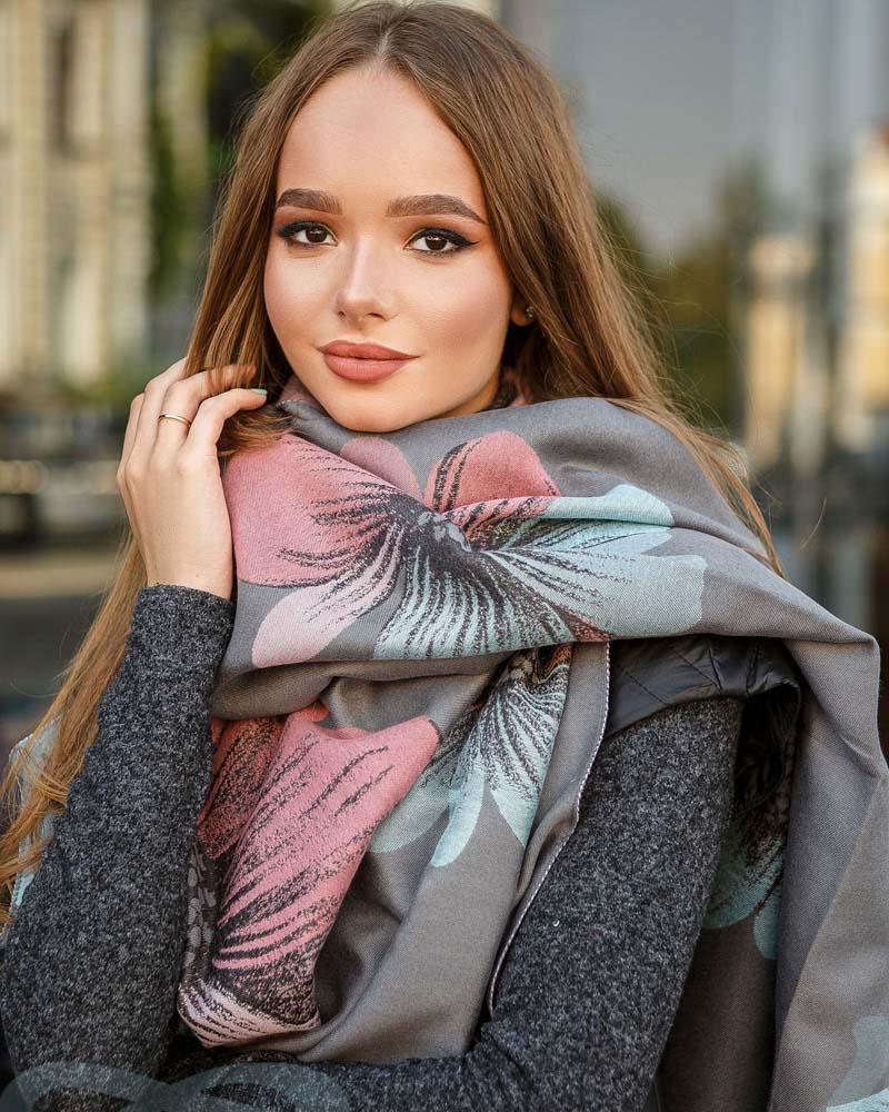 Двусторонний шарф-палантин