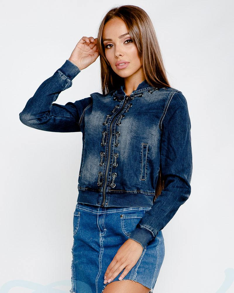 Коротка джинсова куртка от Gepur