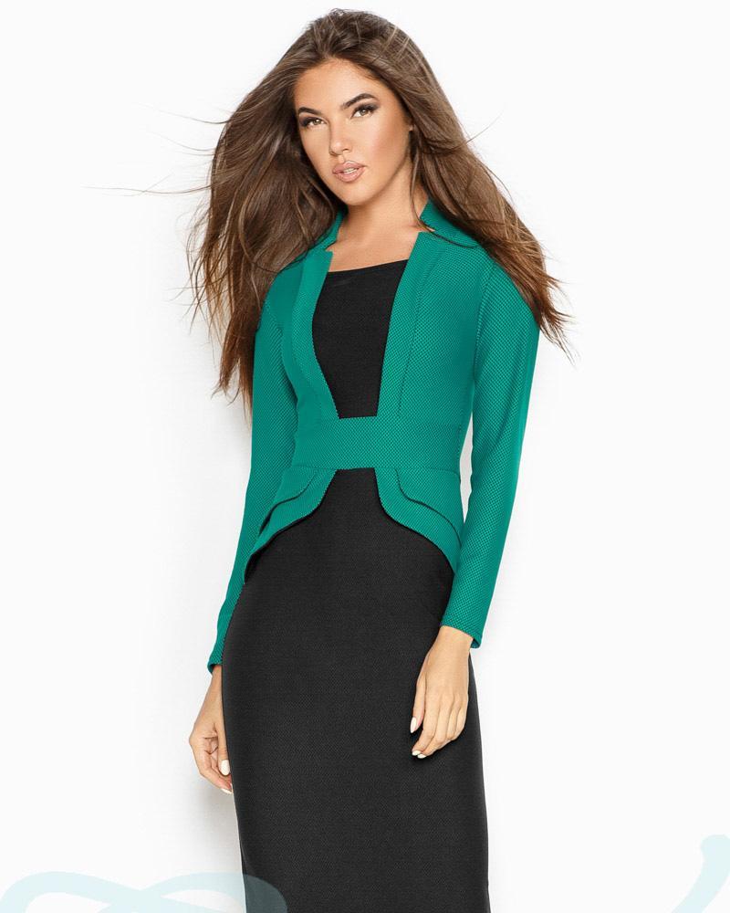 Купить Platya_platya-midi, Двухцветное платье-обманка, Gepur