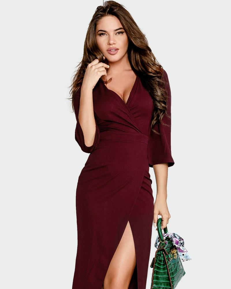 Эластичное платье-футляр фото