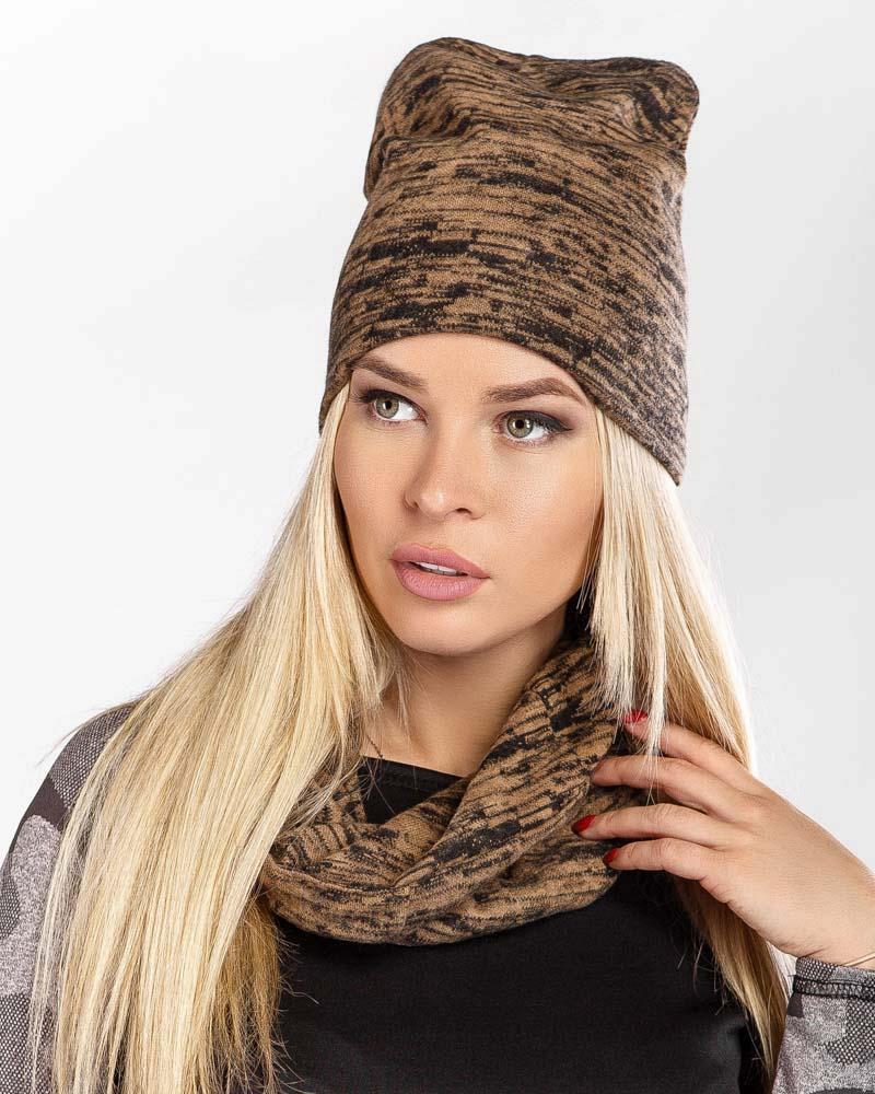 Трикотажный комплект с шарфом