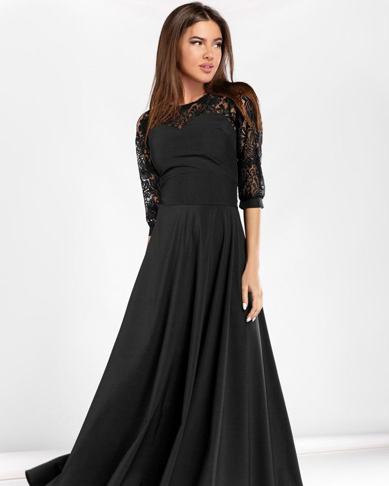 Расклешенное вечернее платье фото