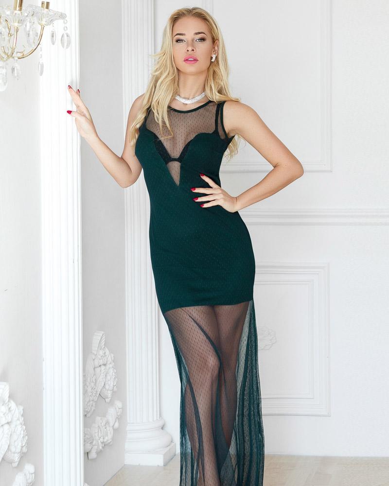 Прозрачное платье-сетка фото