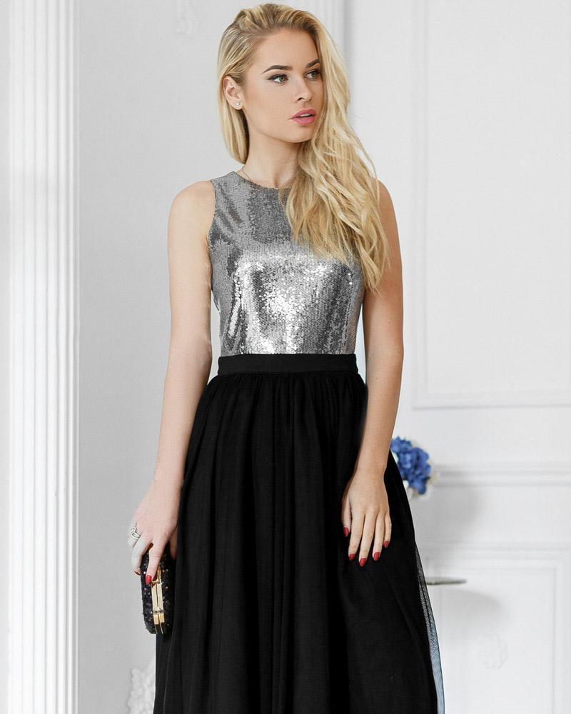 Купить Platya_platya-midi, Двухцветное вечернее платье, Gepur