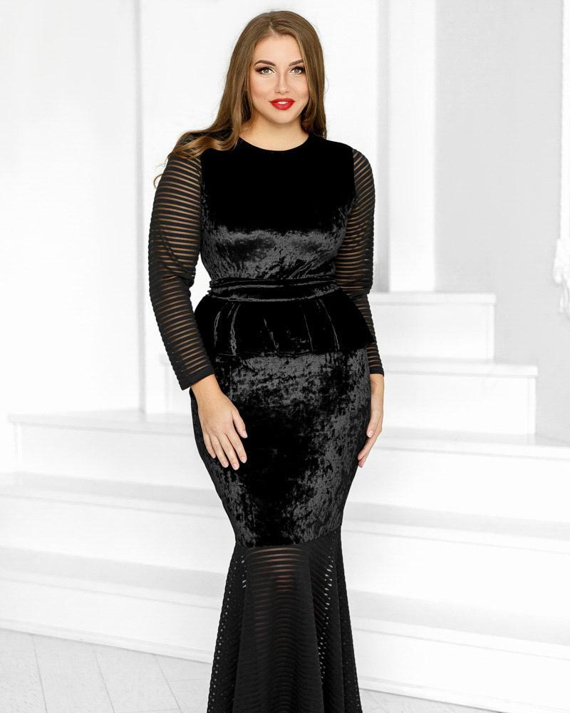 Вечернее бархатное платье фото