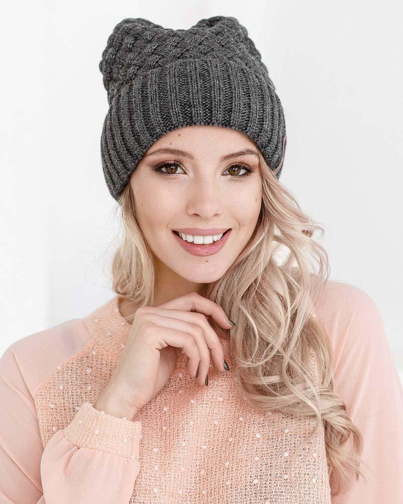 Теплая шапка-бини от Gepur