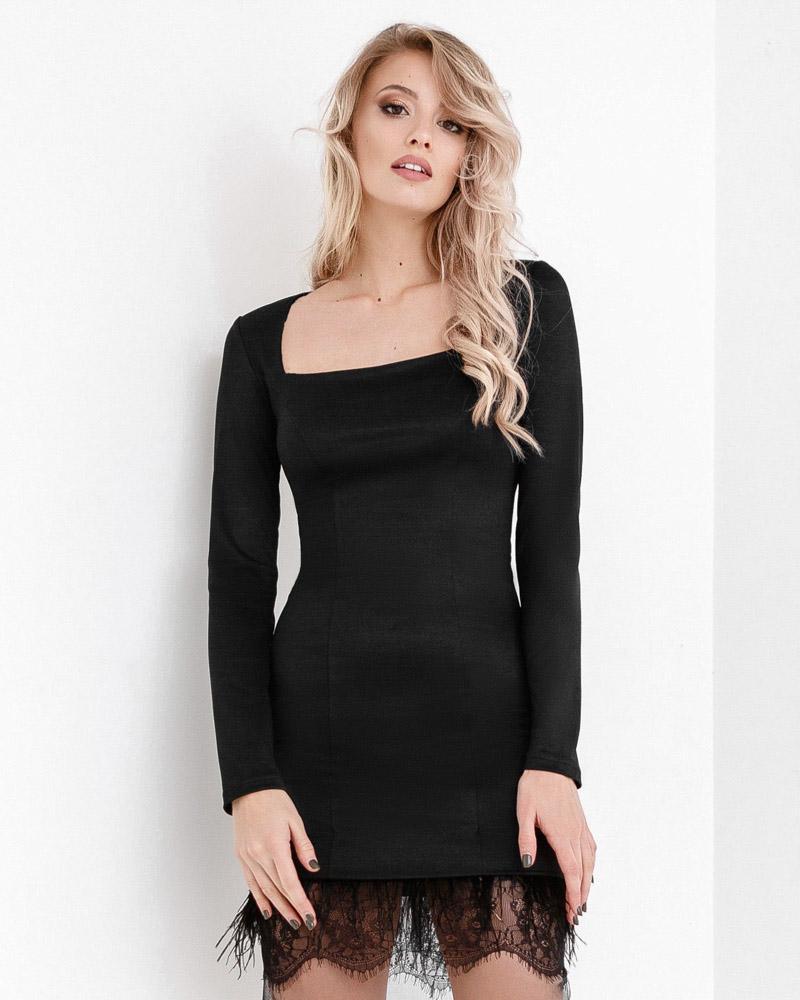 Вечернее платье с декором фото