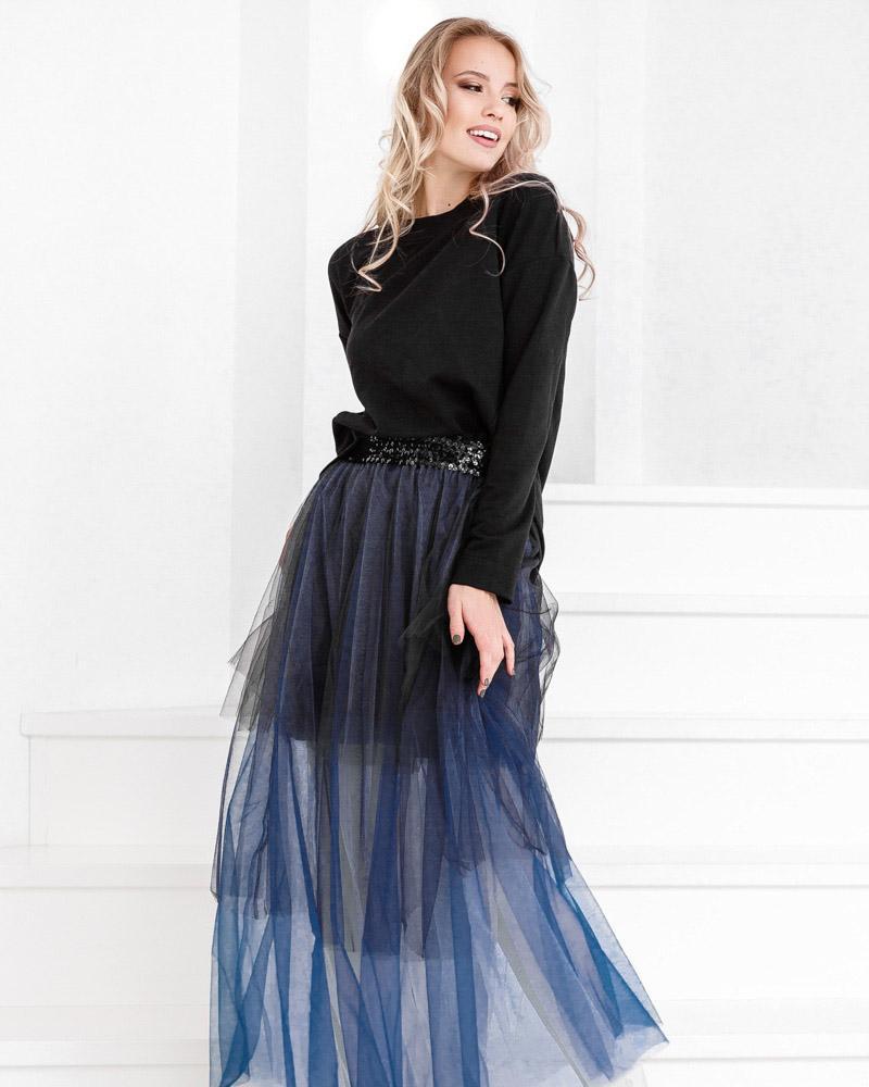 Фатиновая юбка-омбре фото