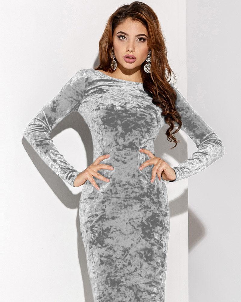Бархатное платье с камнями фото