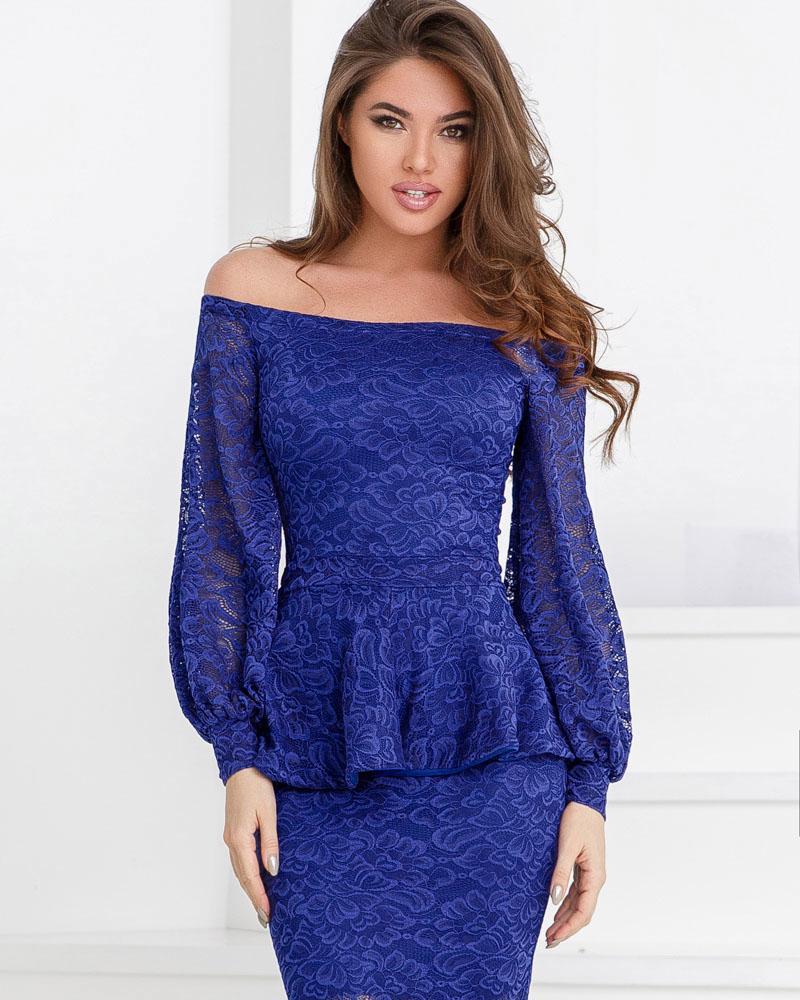 Романтичное гипюровое платье фото