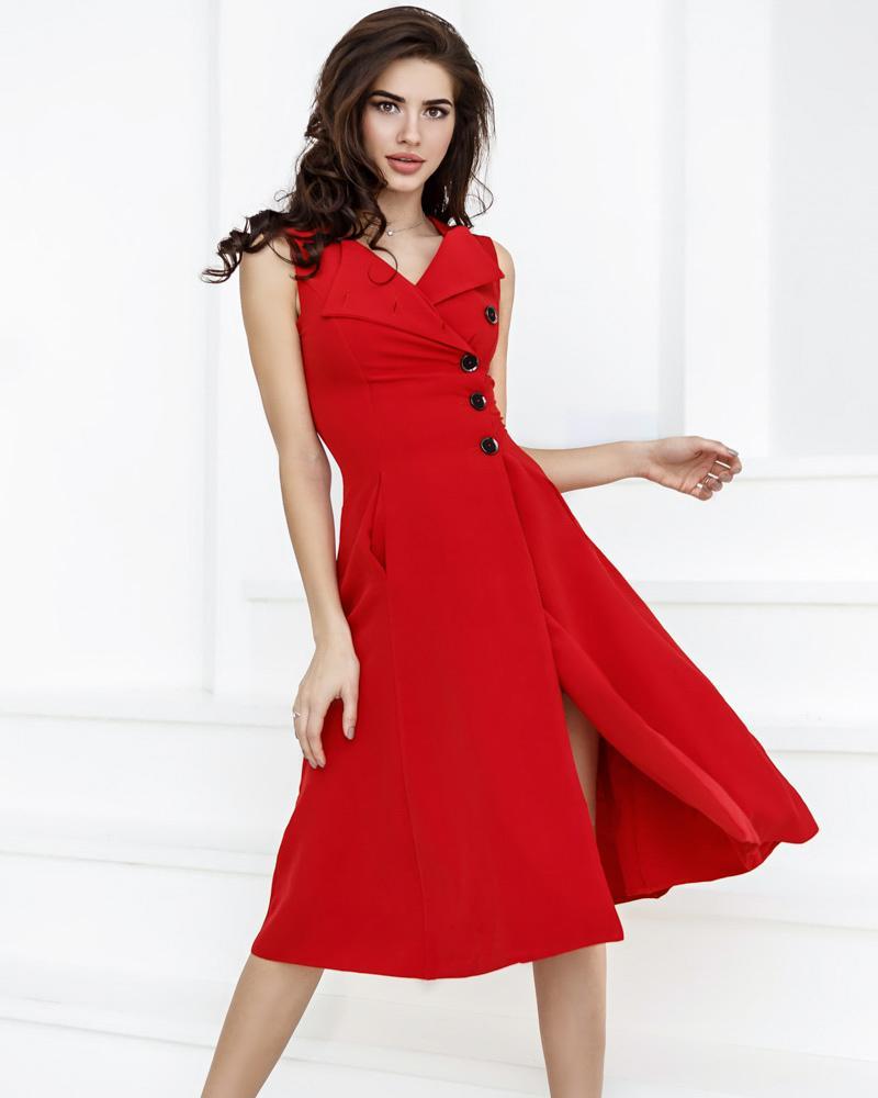 Купить Platya_platya-midi, Эффектное платье А-силуэта, Gepur