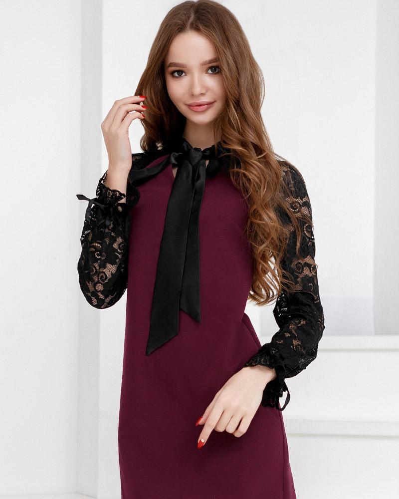 Трендовое платье-трапеция фото
