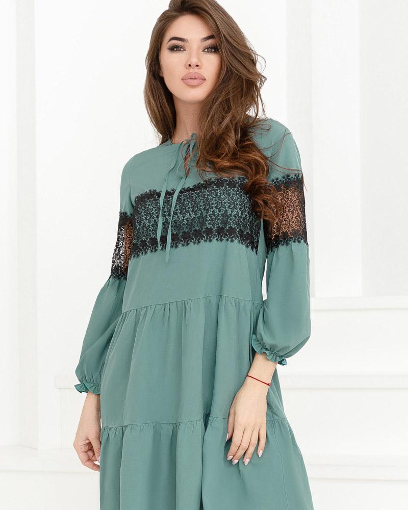 Романтичное многоярусное платье фото