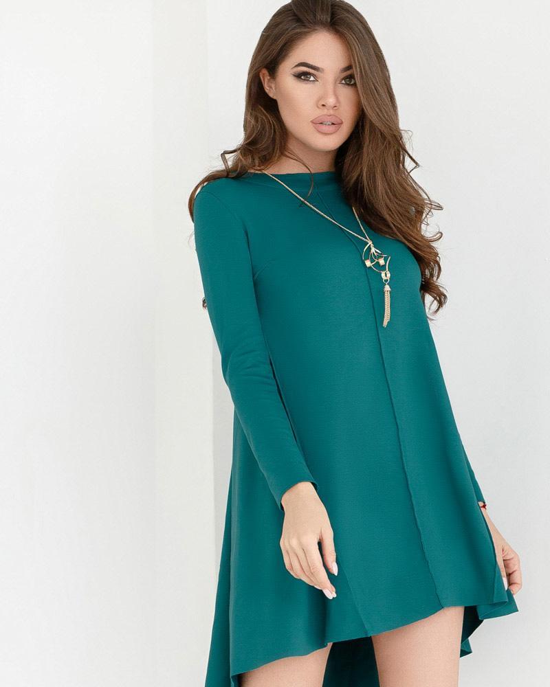 Трикотажное платье-клеш фото