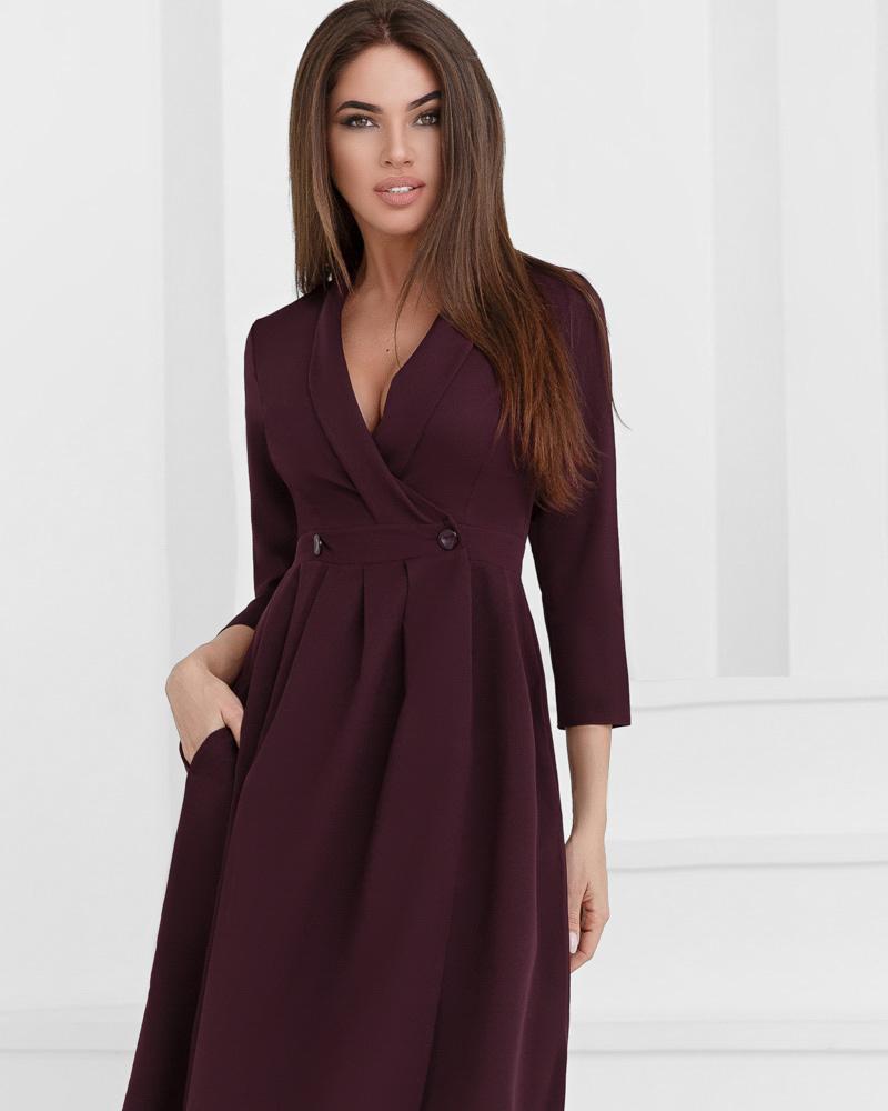 Деловое платье на запáх