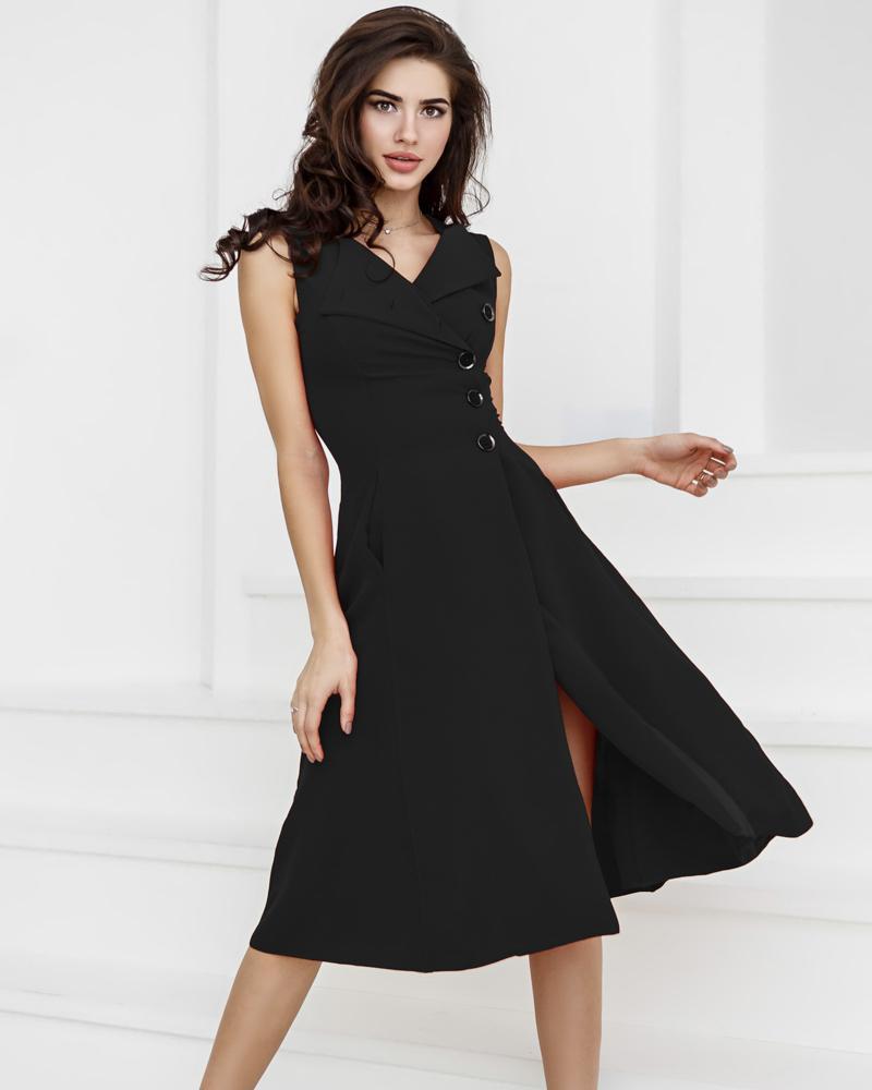 Эффектное платье А-силуэта фото
