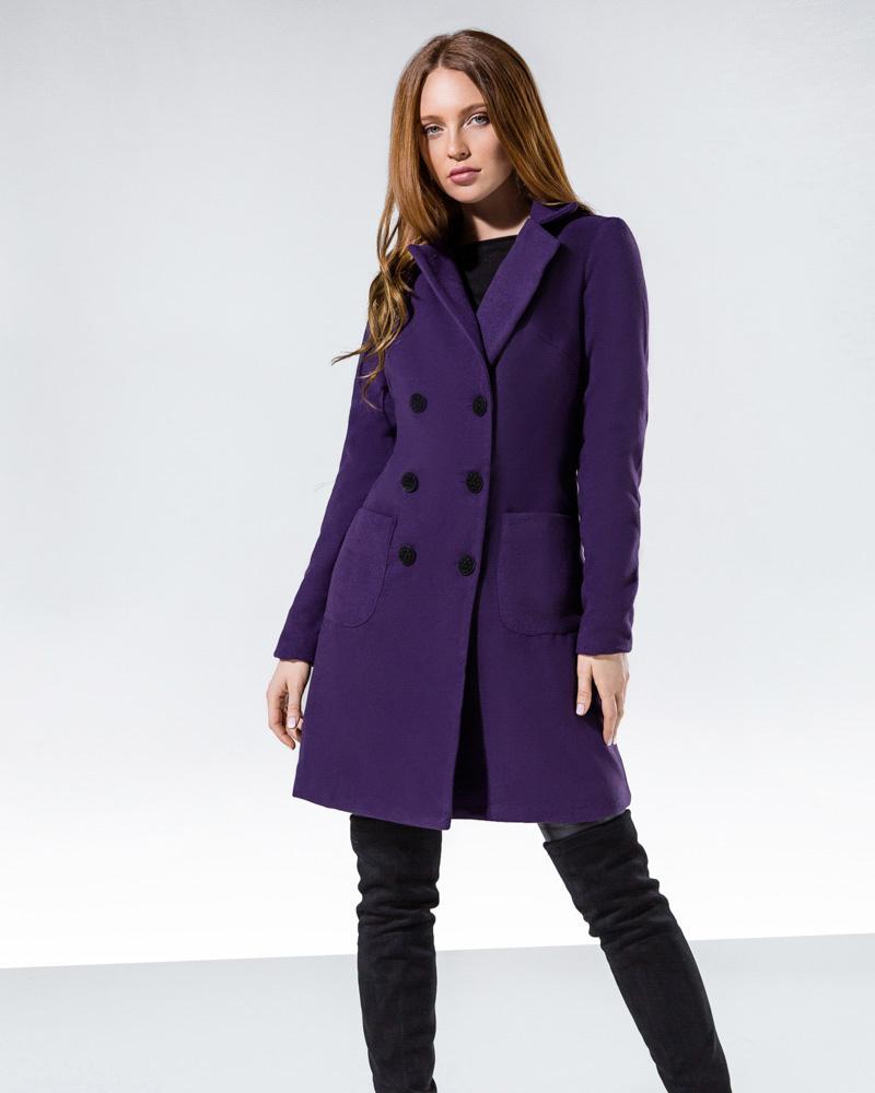 Яркое кашемировое пальто
