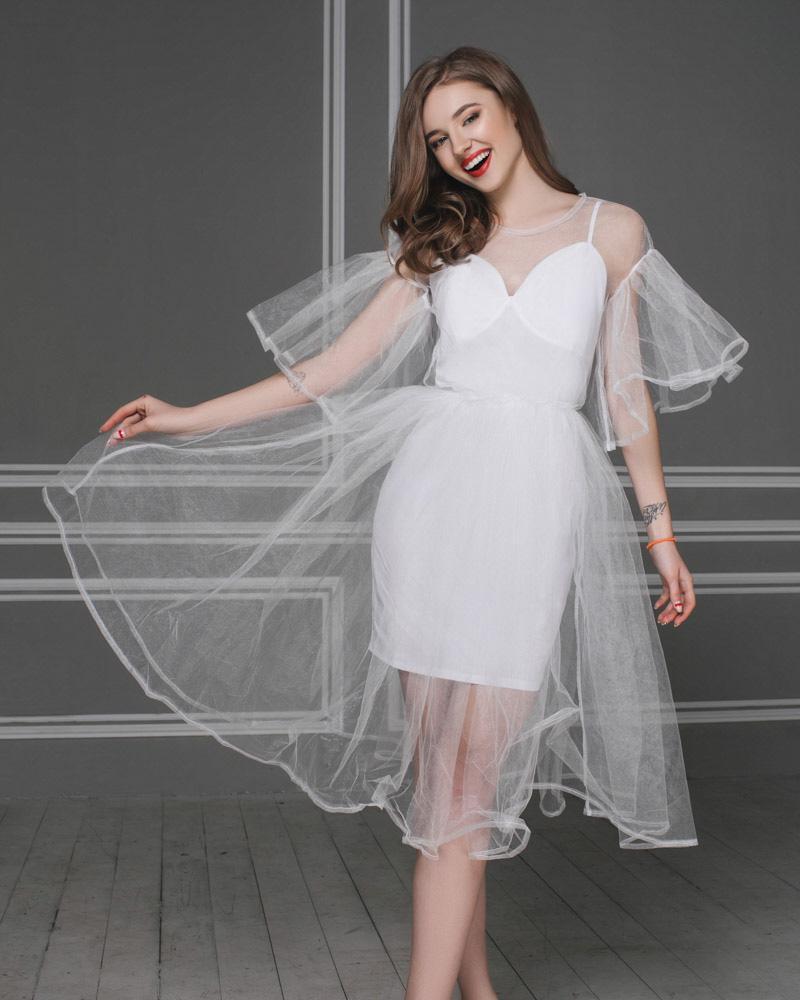 Воздушное платье-сетка фото