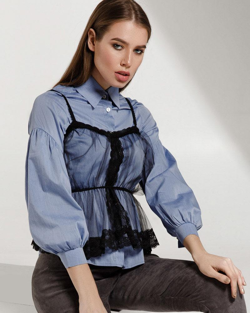 Трендовая женская рубашка