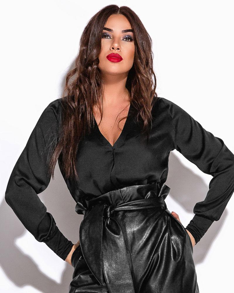 Шелковое боди-блуза фото