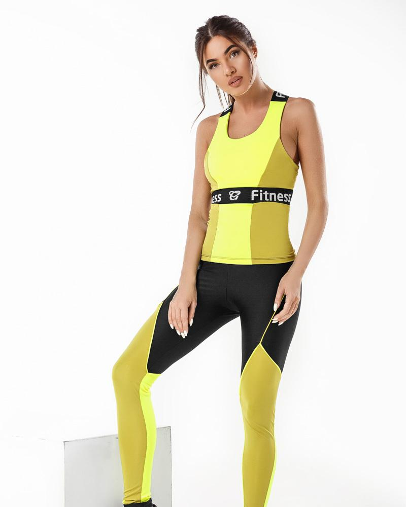 Комбинированный фитнес-костюм фото