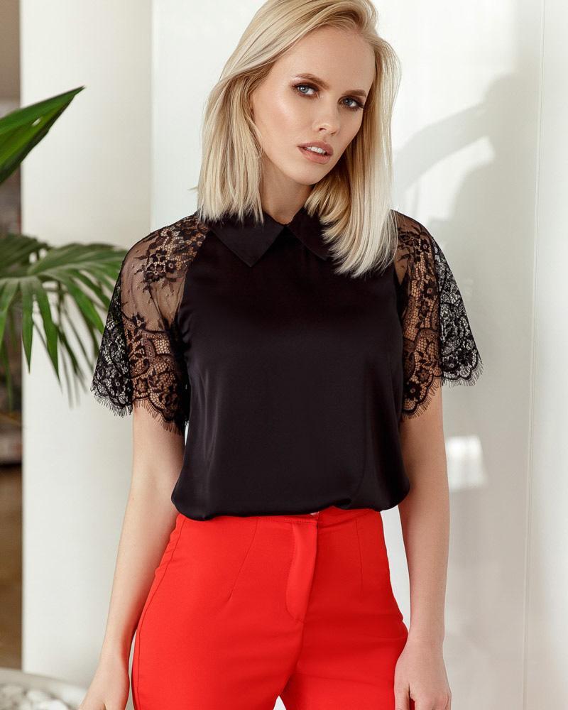Розкльошена шовкова блуза от Gepur