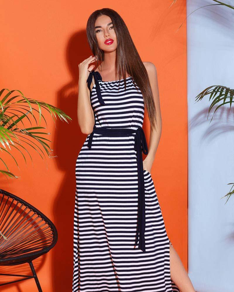 Купить Platya_platya-bolshih-razmerov, Летнее платье в полоску, Gepur
