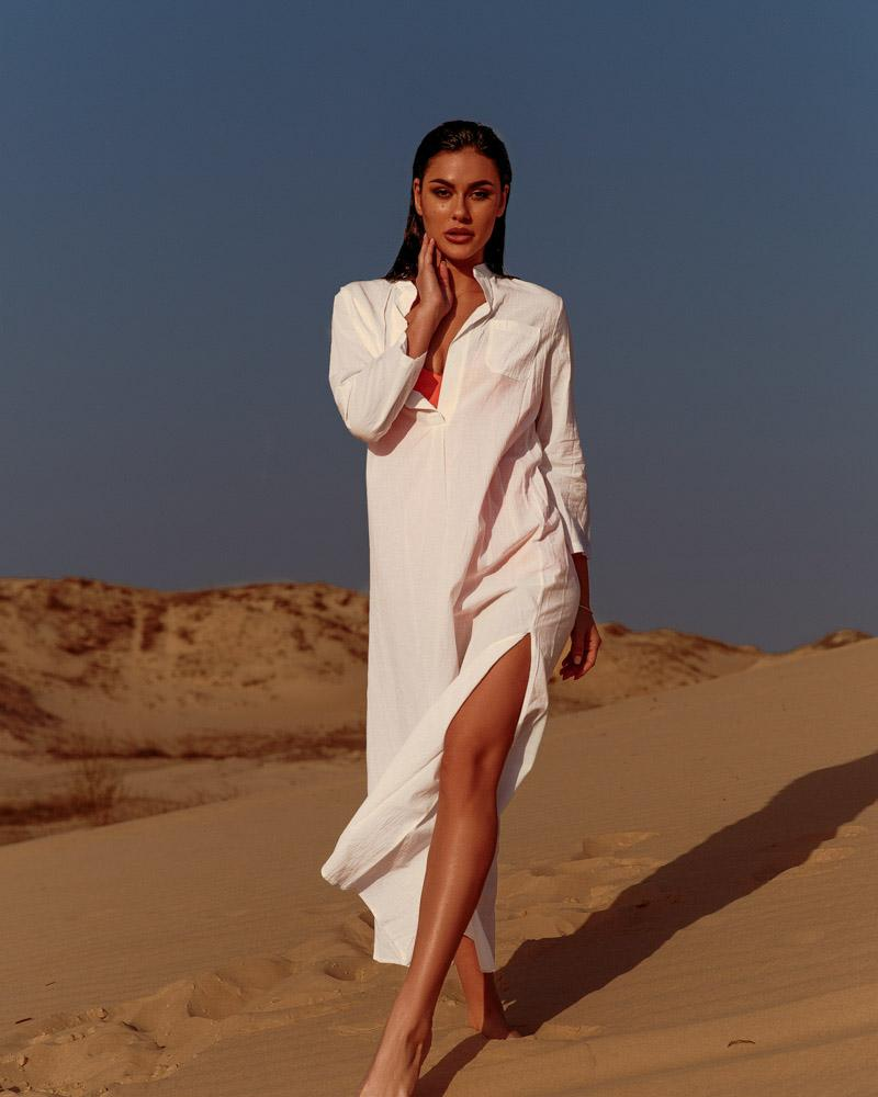 Длинная пляжная туника фото