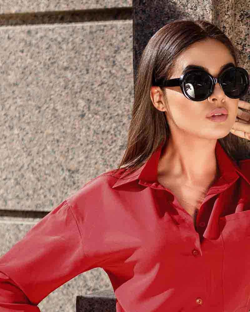 Однотонна блуза-сорочка от Gepur