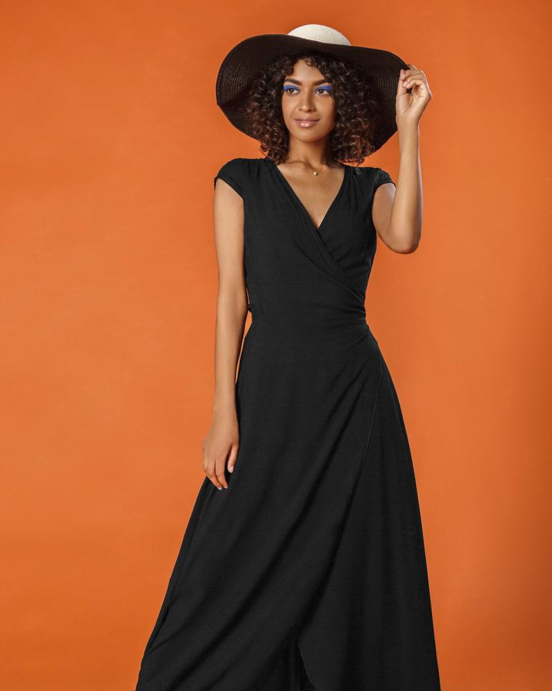 Длинное платье-халат