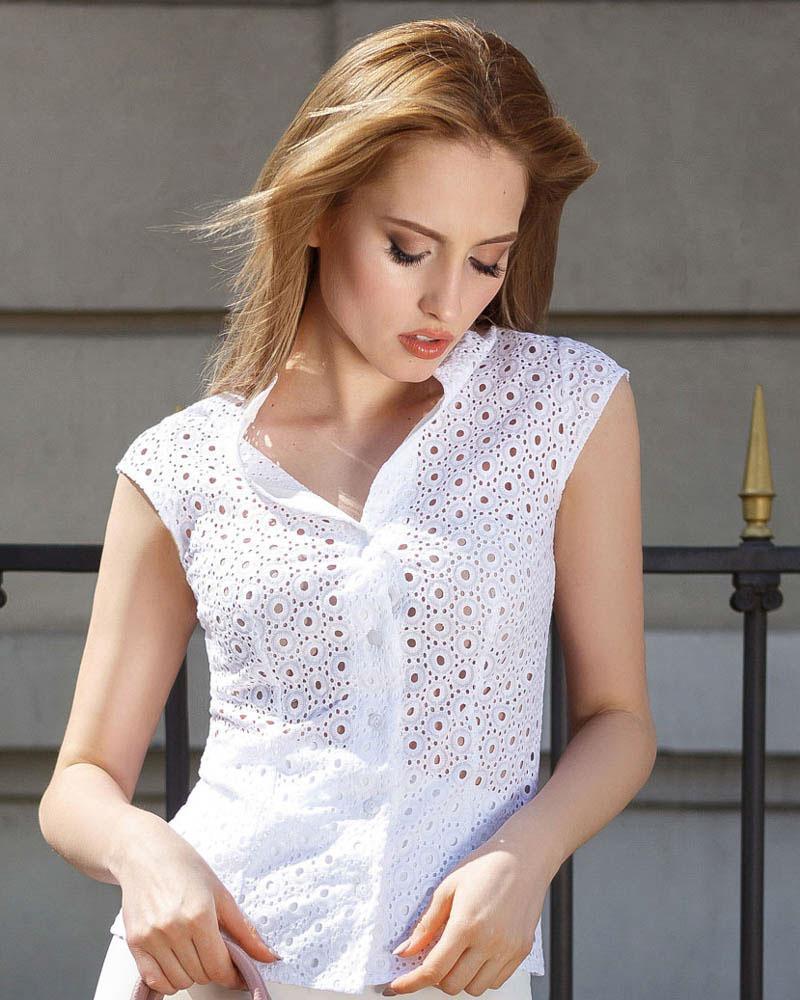 Купить Bluzy-rubashki_bluzy-rubashki-bolshie-razmery, Прозрачная летняя блуза, Gepur
