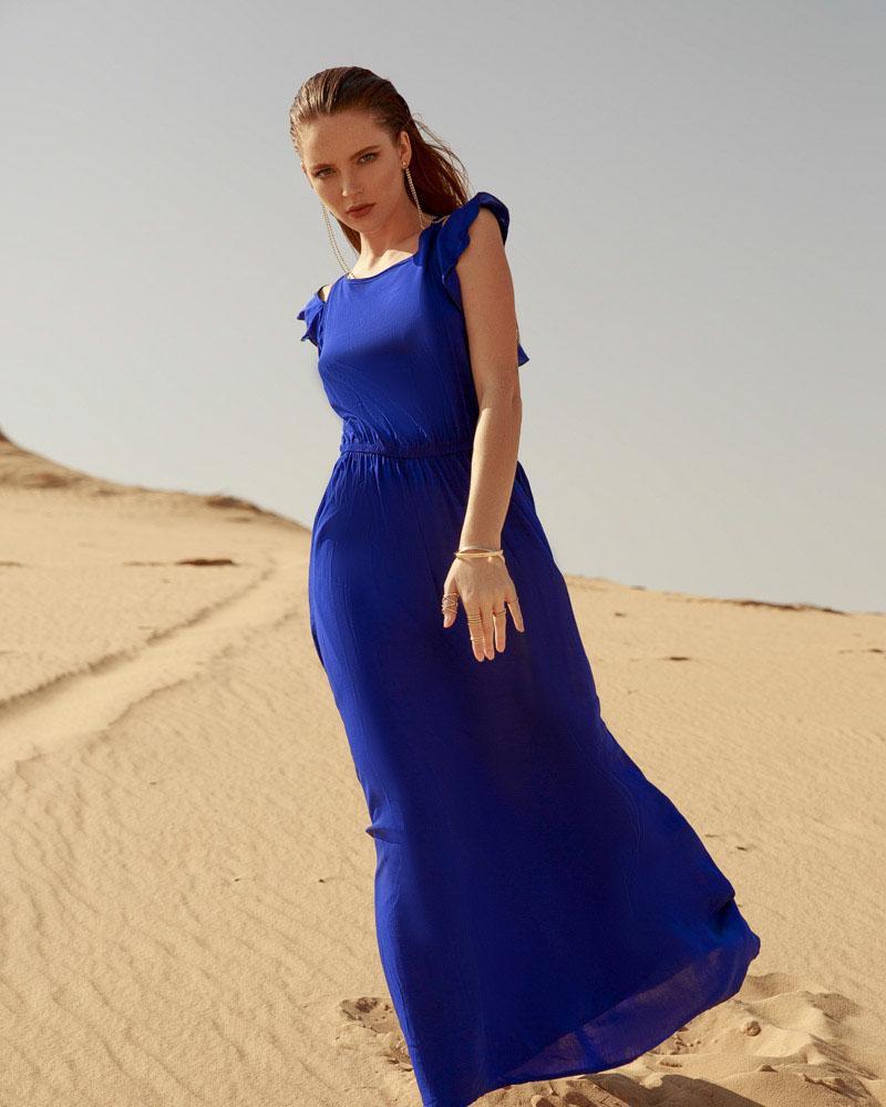 Однотонный летний сарафан фото