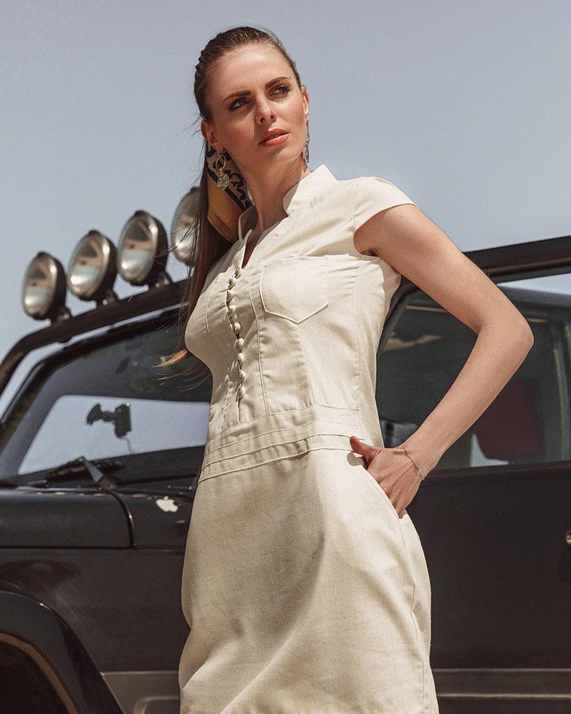 Купить Platya_platya-bolshih-razmerov, Летнее платье из льна, Gepur
